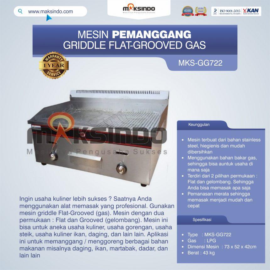 Jual Pemanggang Griddle Flat-Grooved Gas (GG722) di Pekanbaru