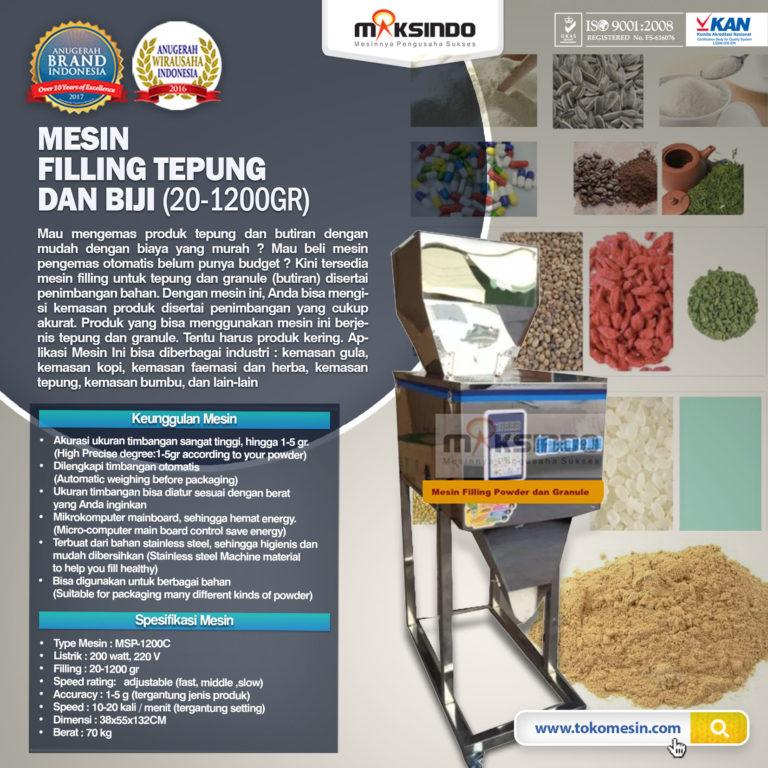 Jual Mesin Filling Tepung dan Biji (20-1200gr) di Pekanbaru
