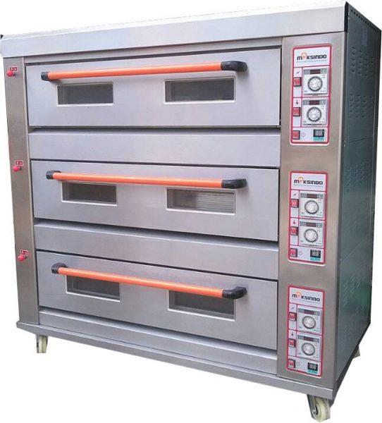 Jual Mesin Oven Roti Gas 3 Rak 9 Loyang (GO39) di Pekanbaru