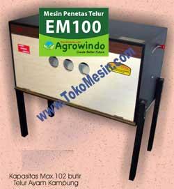 Jual Mesin Penetas Telur Manual 100 Telur (EM-100) di Pekanbaru