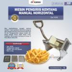 Jual Mesin Pengiris Kentang Manual Horizontal (KG-02) di Pekanbaru