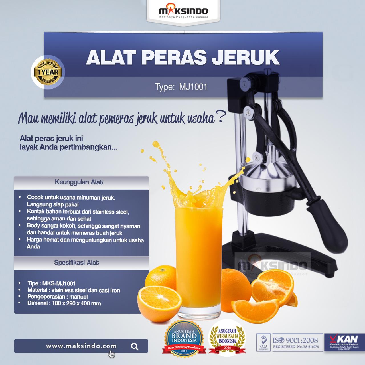 Jual Alat Pemeras Jeruk Manual (MJ1001) di pekanbaru