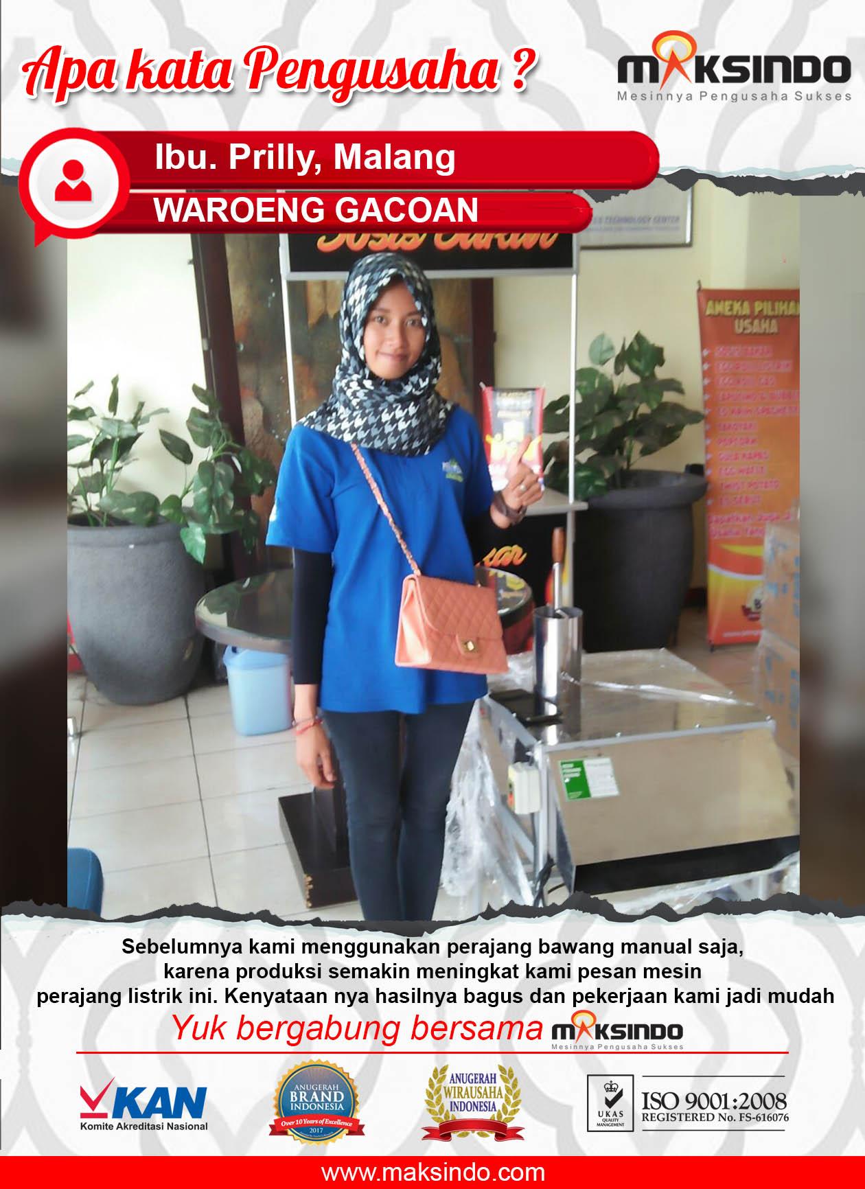 Waroeng Gacoan : Mesin Perajang Bawang Maksindo Mempermudah Pekerjaan