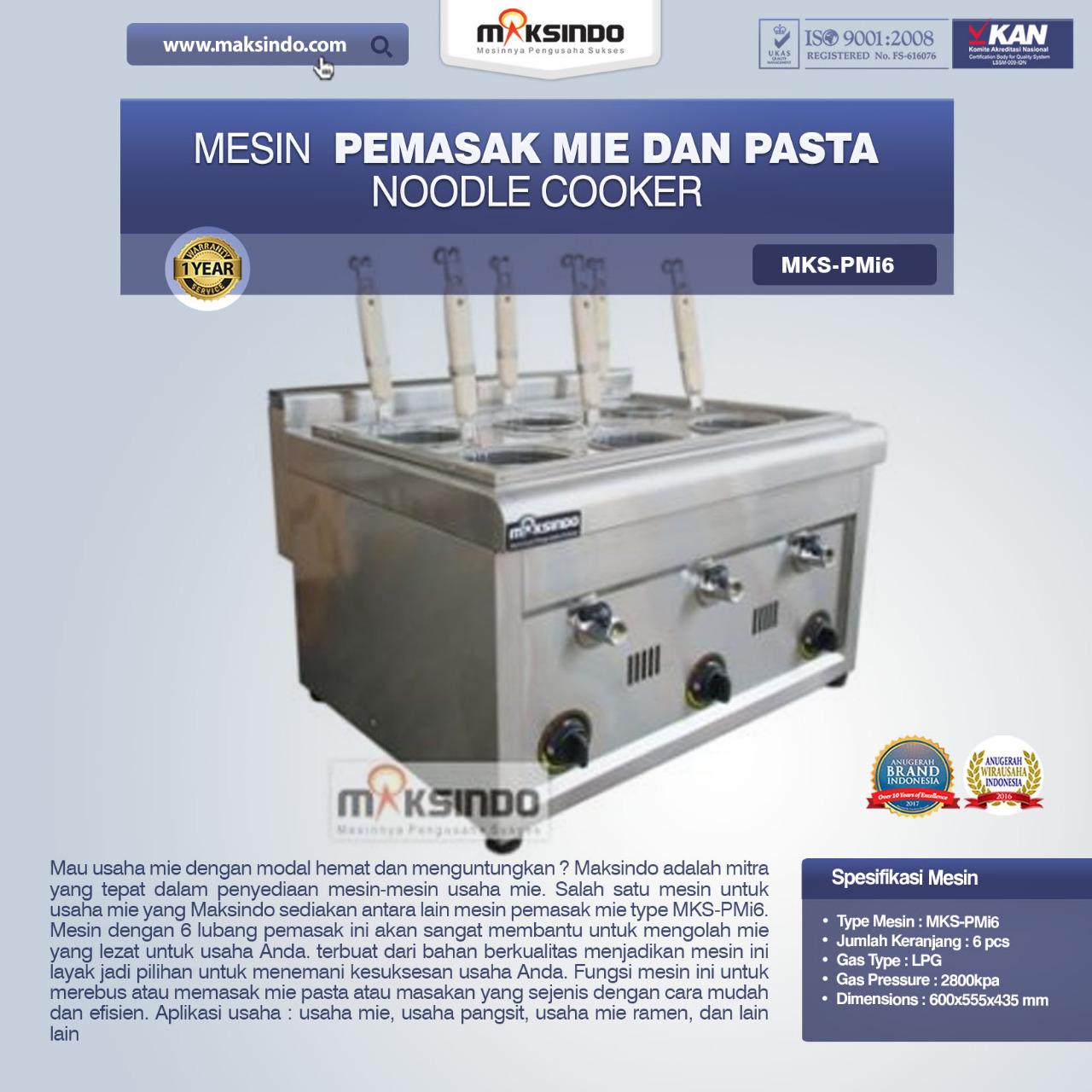 Jual Noodle Cooker (Pemasak Mie Dan Pasta) MKS-PMI6 di Pekanbaru
