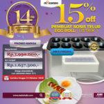 Jual Mesin Pembuat Egg Roll (Listrik) di Pekanbaru