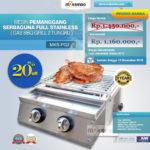 Jual Pemanggang Serbaguna – Gas BBQ Grill 2 Tungku Full Stainless di Pekanbaru