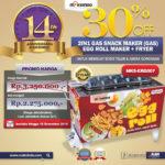 Jual Mesin Egg Roll Gas 2in1 Plus Fryer ERG007 di Pekanbaru