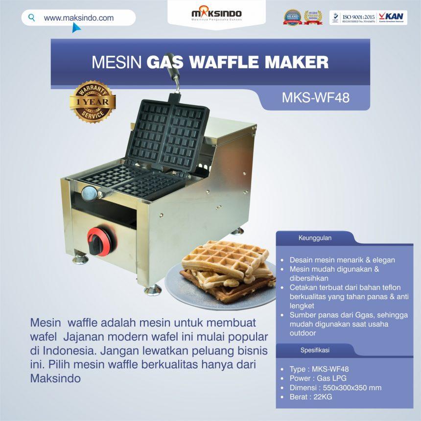 Jual Mesin Gas Waffle Maker MKS-WF48 di Pekanbaru