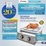 Jual Pemanggang Serbaguna Stainless Steel – Gas BBQ Grill 2 Tungku di Pekanbaru