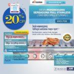 Jual Pemanggang Serbaguna Stainless Steel – Gas BBQ Grill 8 Tungku di Pekanbaru