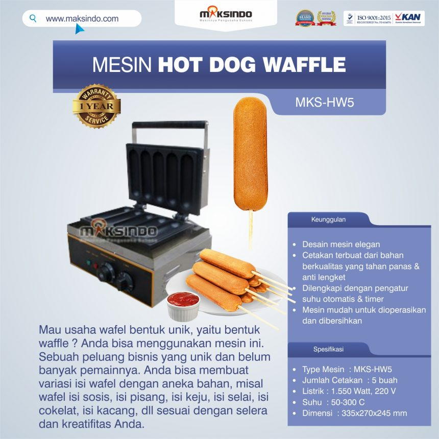 Jual Mesin Hot Dog Waffle MKS-HW5 di Pekanbaru