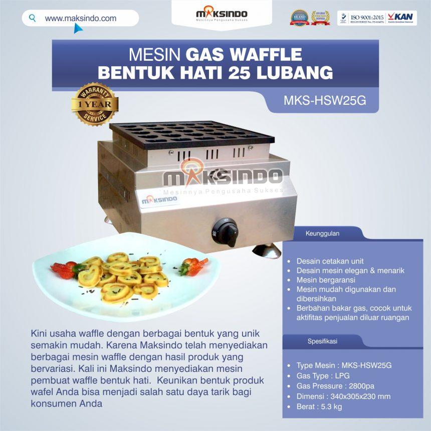 Jual Gas Waffle Bentuk Hati 25 Lubang MKS-HSW25G Di Pekanbaru