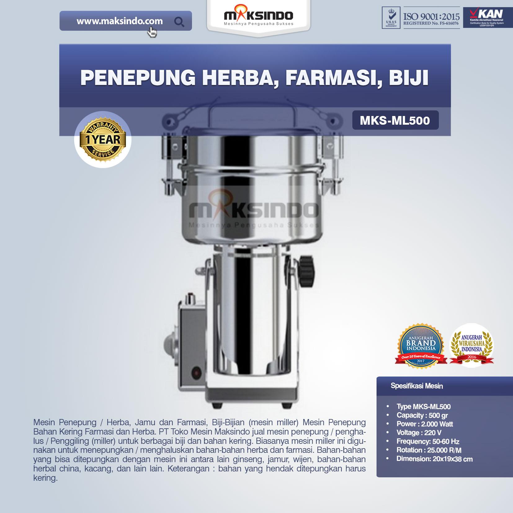 Jual Penepung Herba, Farmasi, Biji (ML100) di Pekanbaru