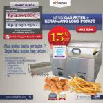 Jual Mesin Gas Fryer MKS-G20L + Keranjang di Pekanbaru