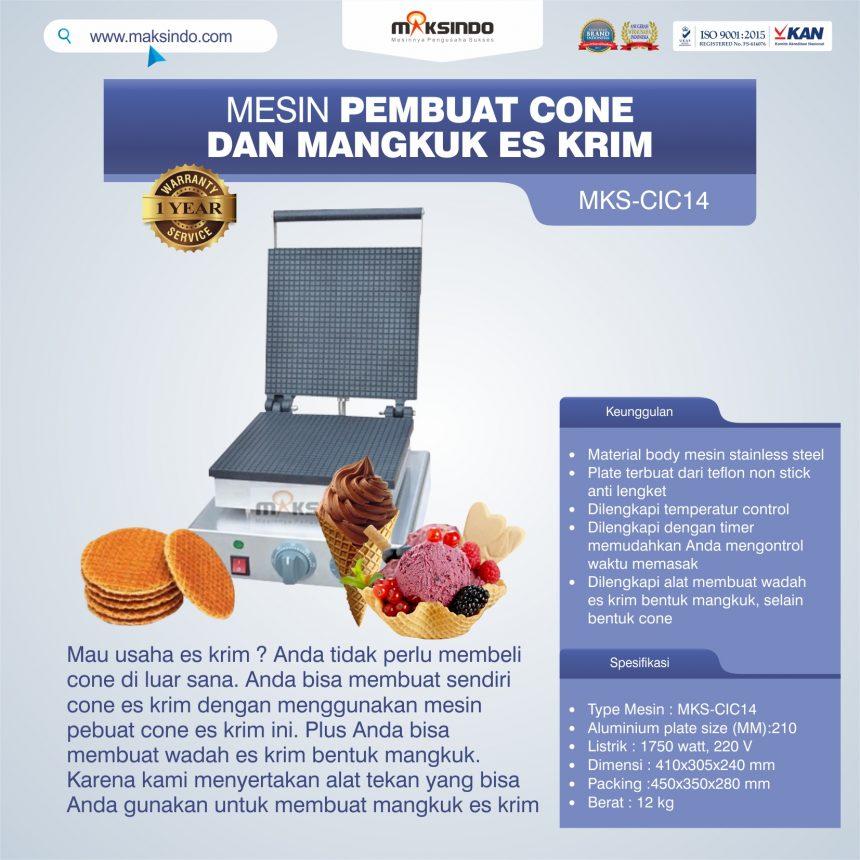 Jual Pembuat Cone dan Mangkuk Es Krim (CIC14) di Pekanbaru
