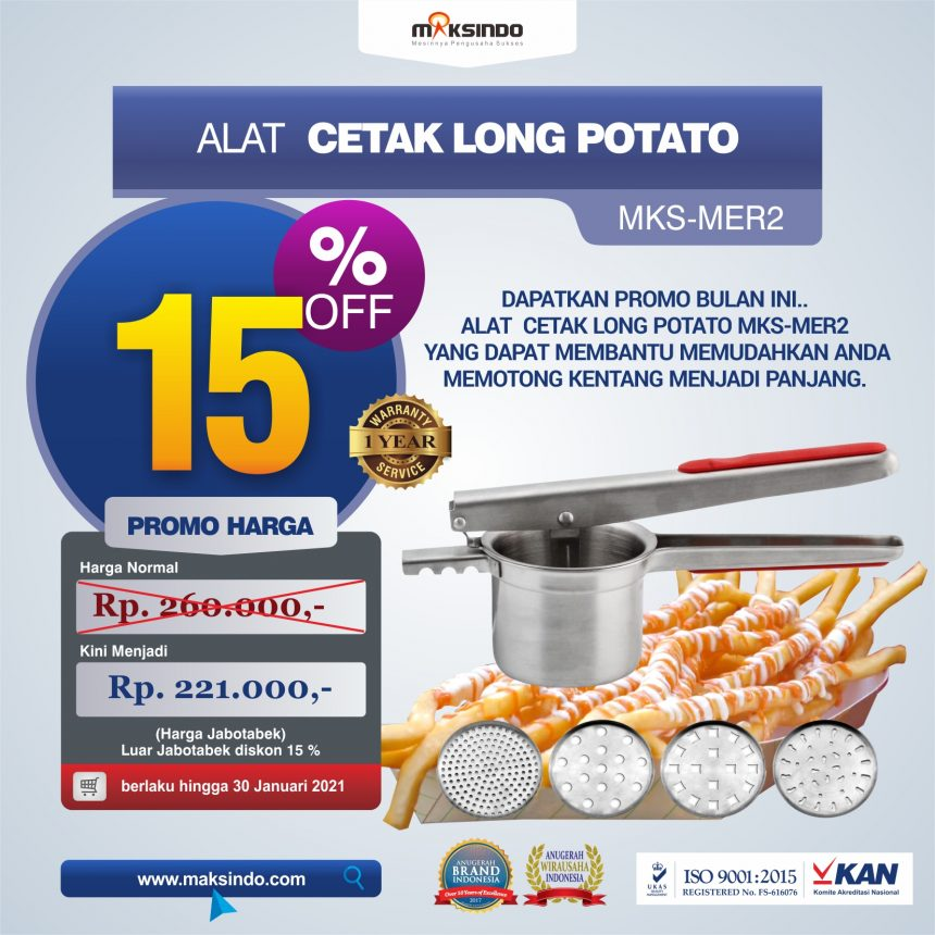 Jual Alat Cetak Long Potato MKS-MER2 di Pekanbaru