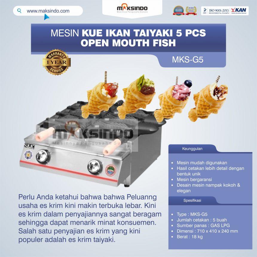 Jual Mesin Kue Ikan Taiyaki 5 Pcs – Open Mouth Fish di Pekanbaru