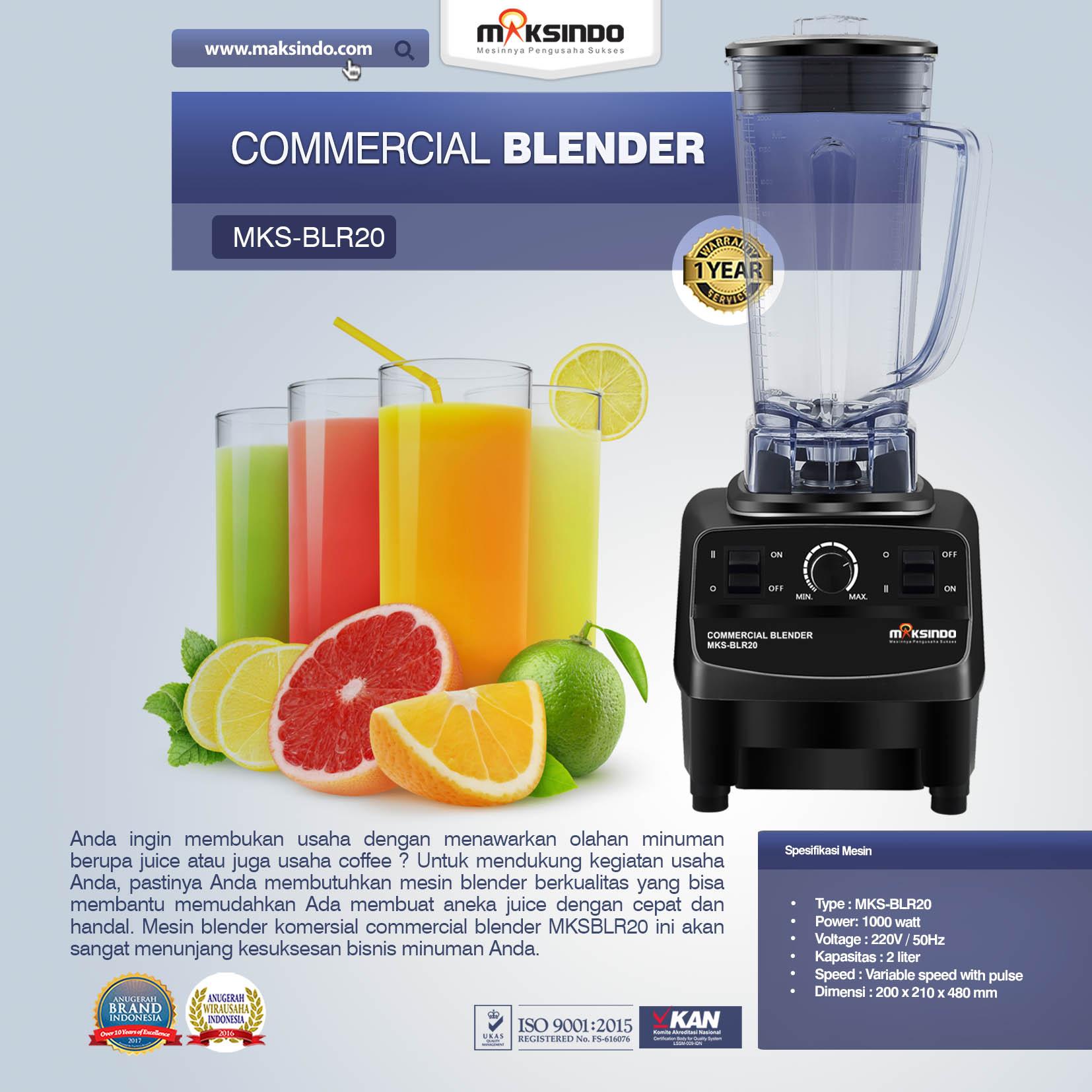 Jual Commercial BlenderMKS-BLR20 di Pekanbaru