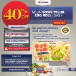 Jual Mesin Pembuat Egg Roll (Gas) MKS-ERG002 di Pekanbaru