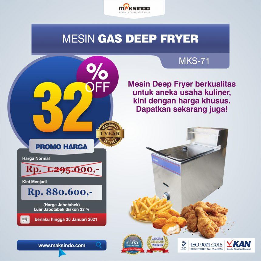 Jual Mesin Gas Deep Fryer MKS-71 di Pakanbaru