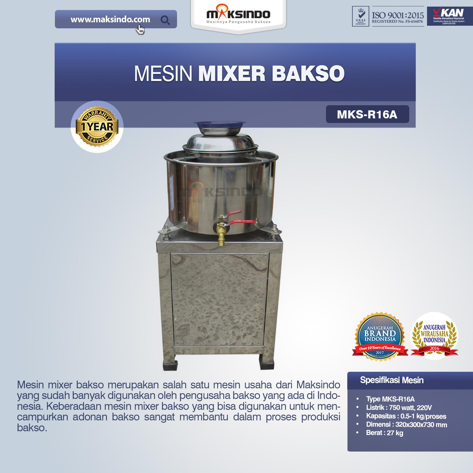 Jual Mesin Mixer BaksoMKS-R16A, MKS-R23A di Pekanbaru