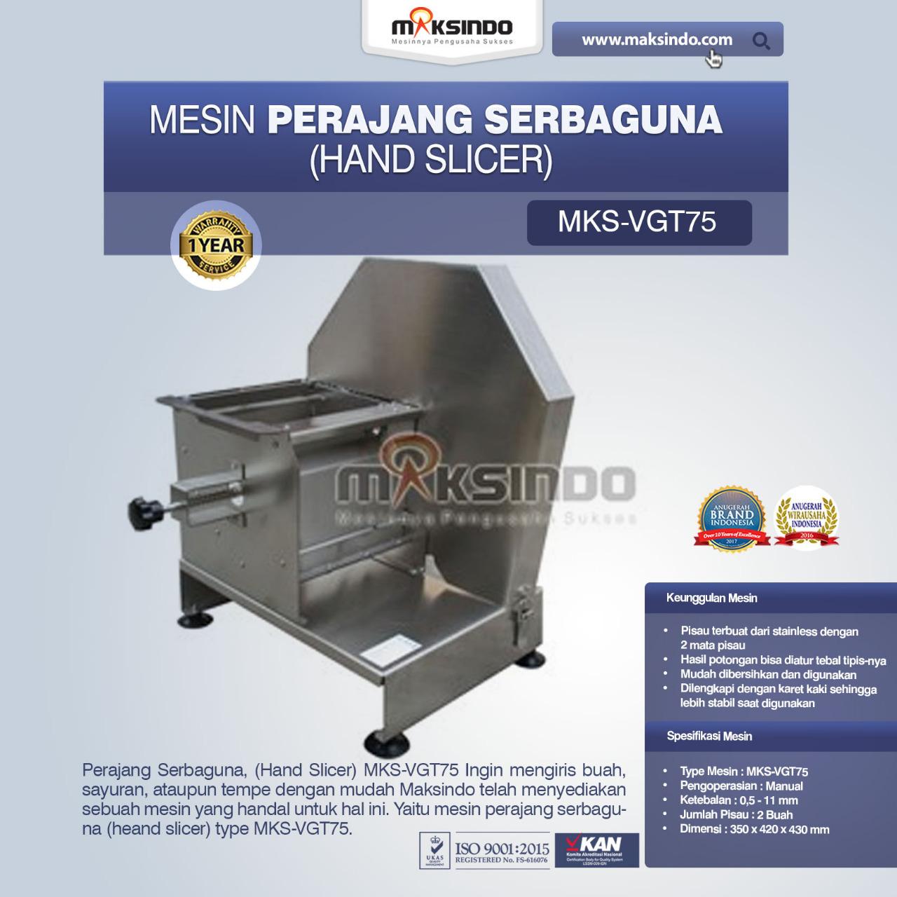 Jual Perajang Serbaguna (Hand Slicer) MKS-VGT75 di Pekanbaru