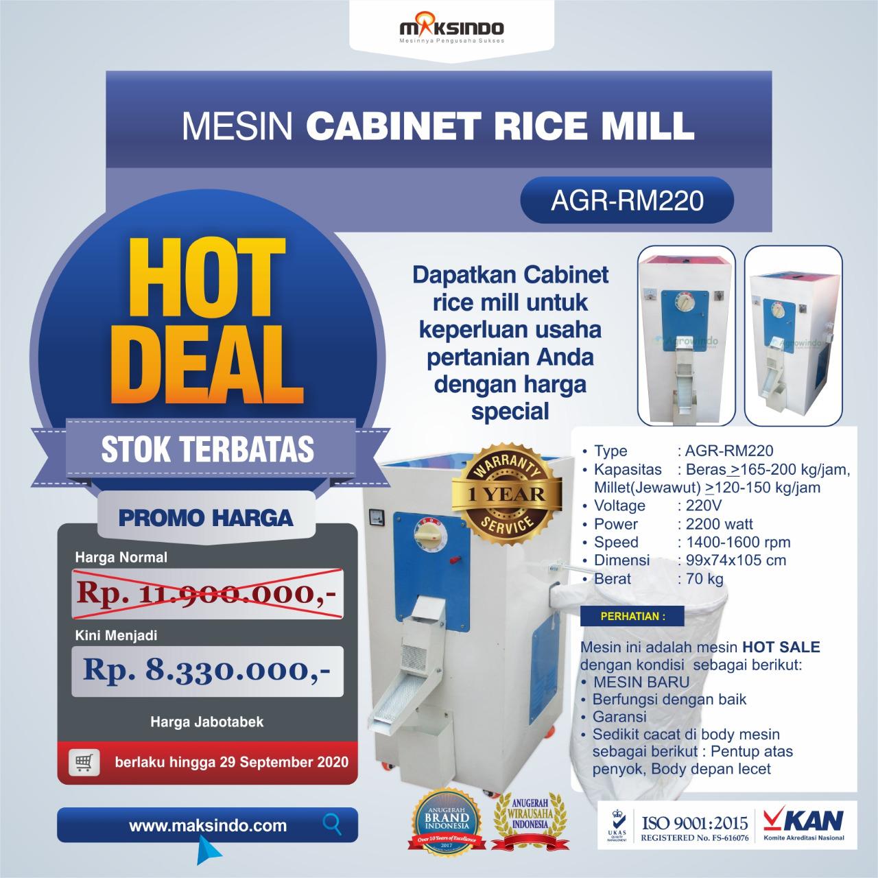 Jual Mesin Cabinet Rice Mill AGR-RM220 di Pekanbaru