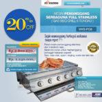 Jual Pemanggang Serbaguna Stainless Steel – Gas BBQ Grill 6 Tungku di Pekanbaru