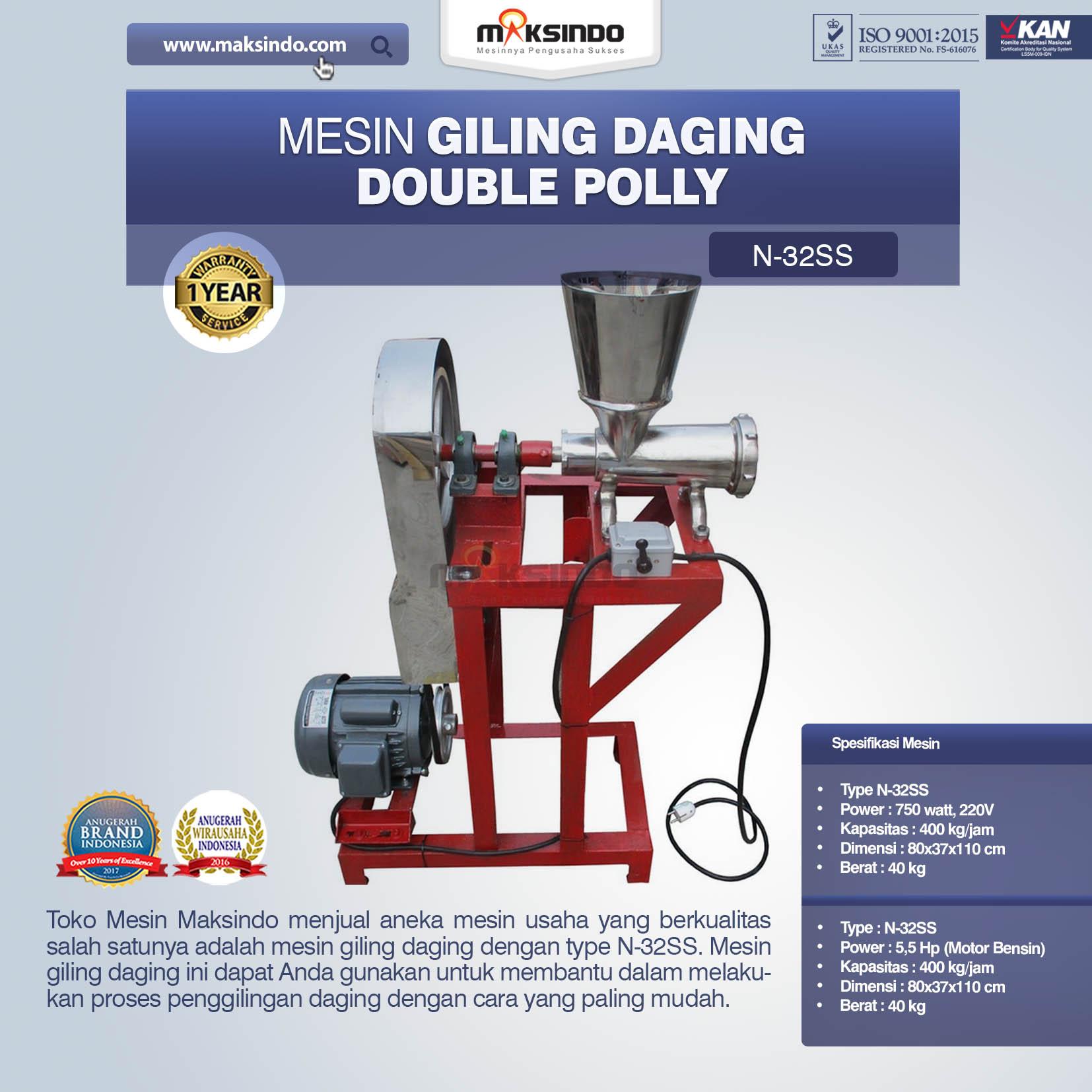 Jual Mesin Giling Daging Double Polly N-32SS di Pekanbaru
