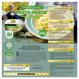 Training Sukses Pesta Pasta, Sabtu, 03 Agustus 2019