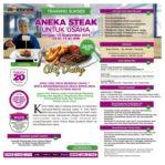 Training Sukses Aneka Steak Untuk Usaha, Minggu, 15 September 2019