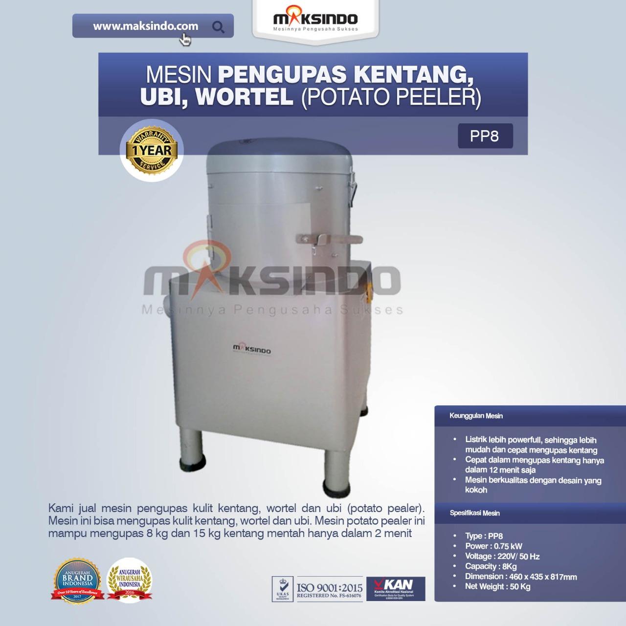 Jual Mesin Pengupas Kentang, Ubi, Wortel (Potato Peeler) di Pekanbaru