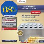 Jual Mesin Pembuat Egg Roll (Listrik) GRILLO-10SS di Pekanbaru