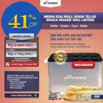 Jual Mesin Egg Roll Sosis Telur Snack Maker 4in1 Listrik di Pekanbaru
