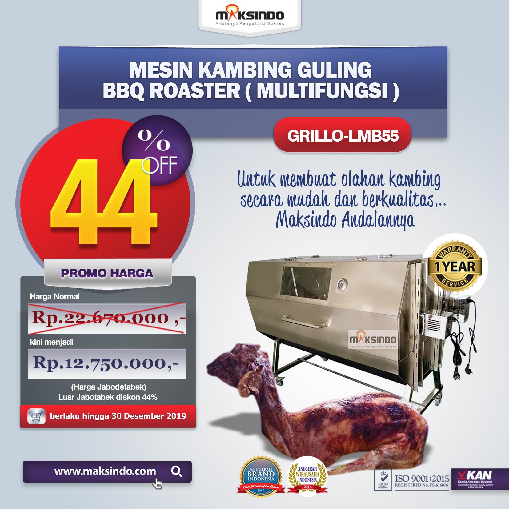 Jual Mesin Kambing Guling Double Location Roaster (GRILLO-LMB55) di Pekanbaru