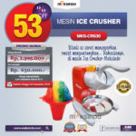Jual Mesin Ice Crusher MKS-CRS30 di Pekanbaru
