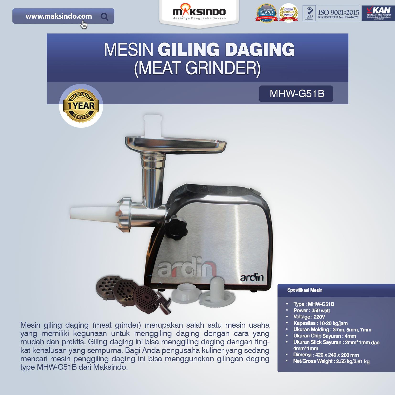Jual Mesin Giling Daging (Meat Grinder) MHW-G51B di Pekanbaru