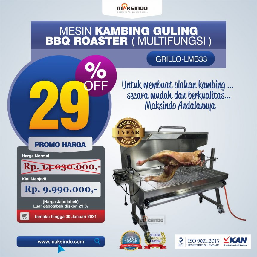 Jual Mesin Kambing Guling BBQ Roaster (GRILLO-LMB33) di Pekanbaru