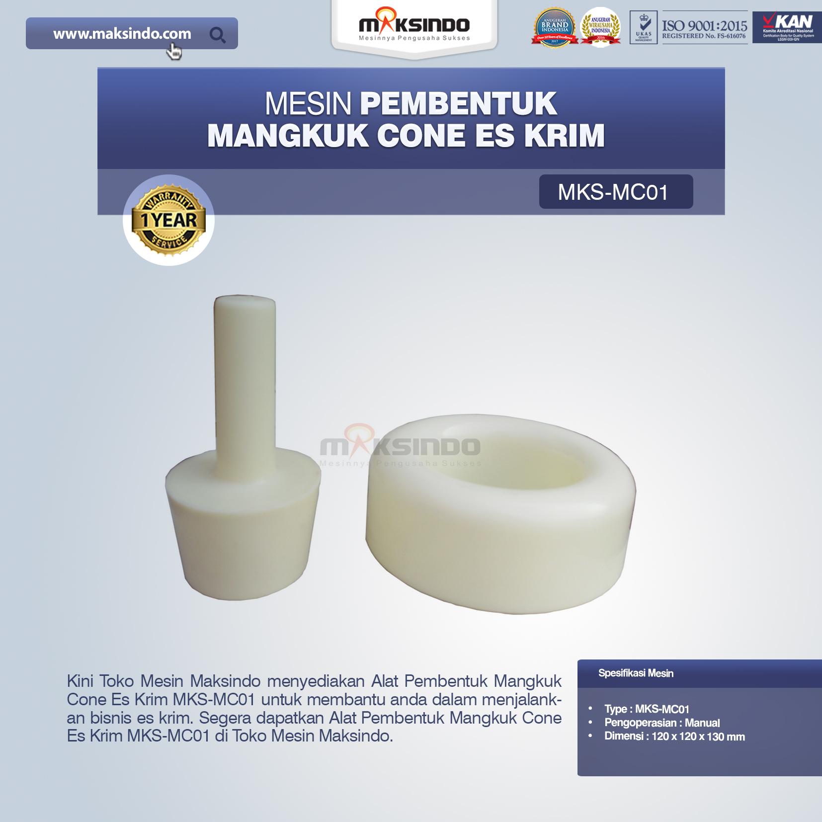 Jual Alat Pembentuk Mangkuk Cone Es Krim MKS-MC01 Di Pekanbaru