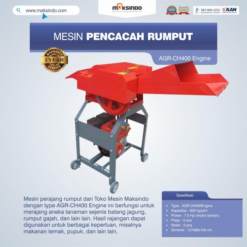 Jual Mesin Pencacah Rumput AGR-CH400 Engine di Pekanbaru