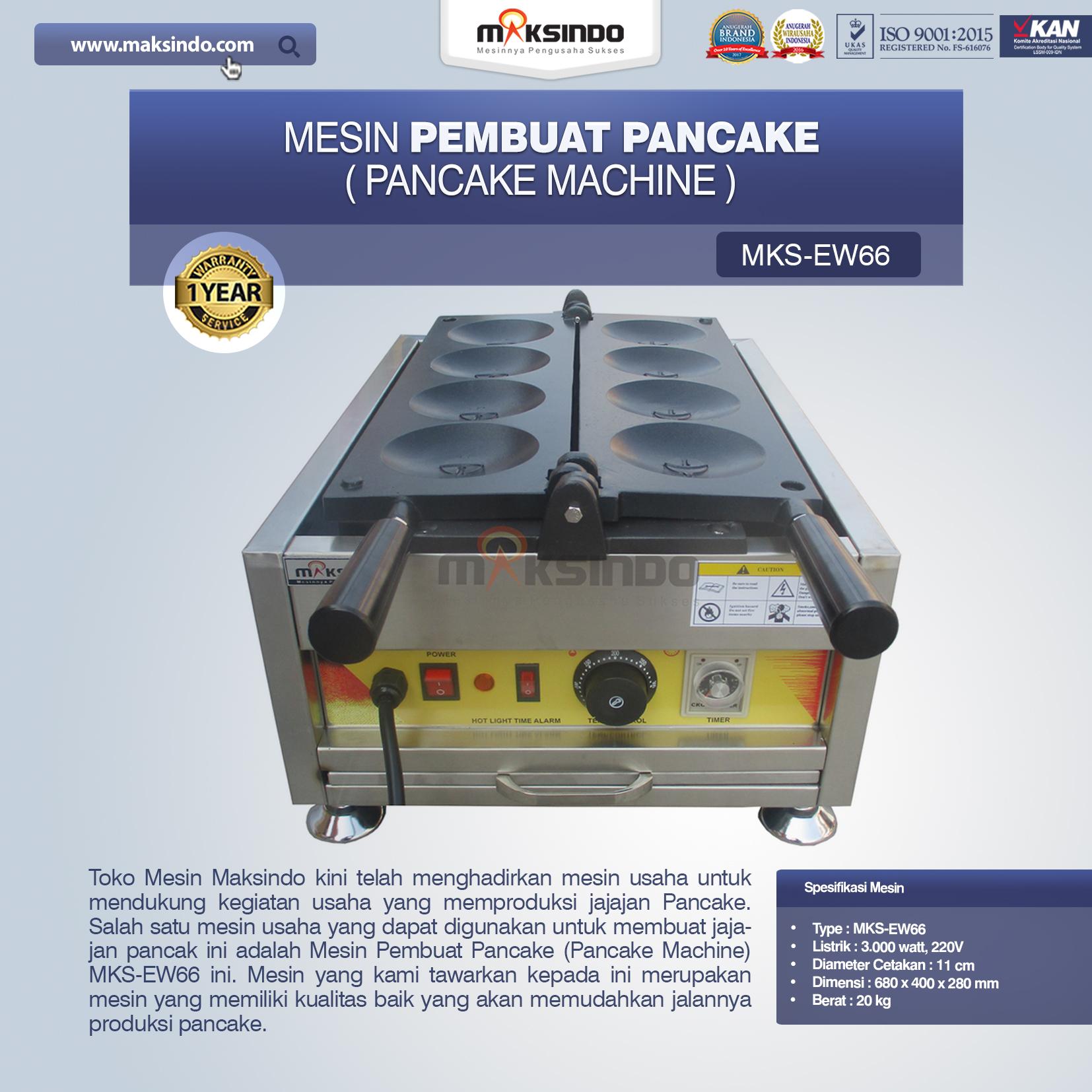 Jual Mesin Pembuat Pancake (Pancake Machine) MKS-EW66 di Pekanbaru