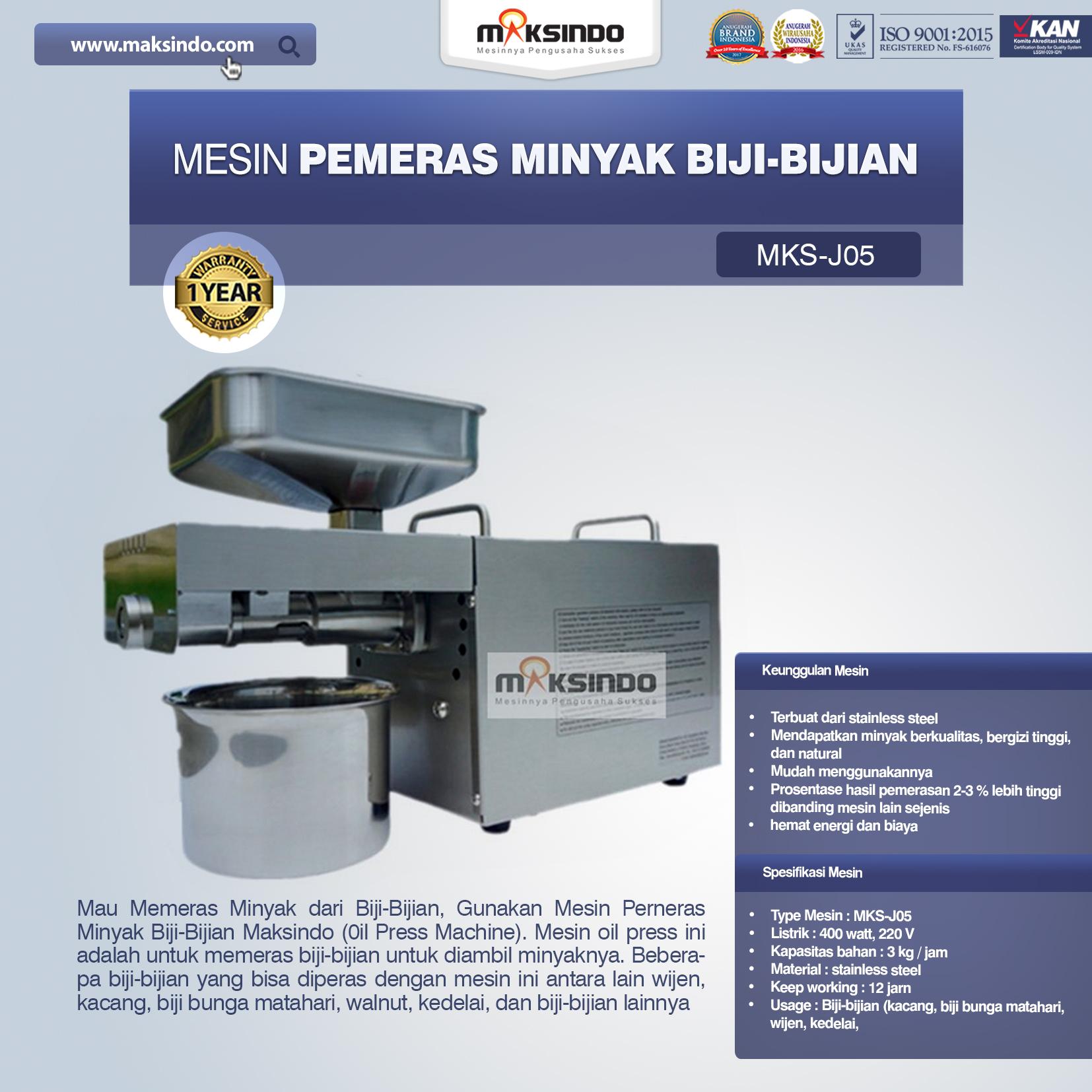 Jual Mesin Pemeras Minyak Biji-Bijian di Pekanbaru