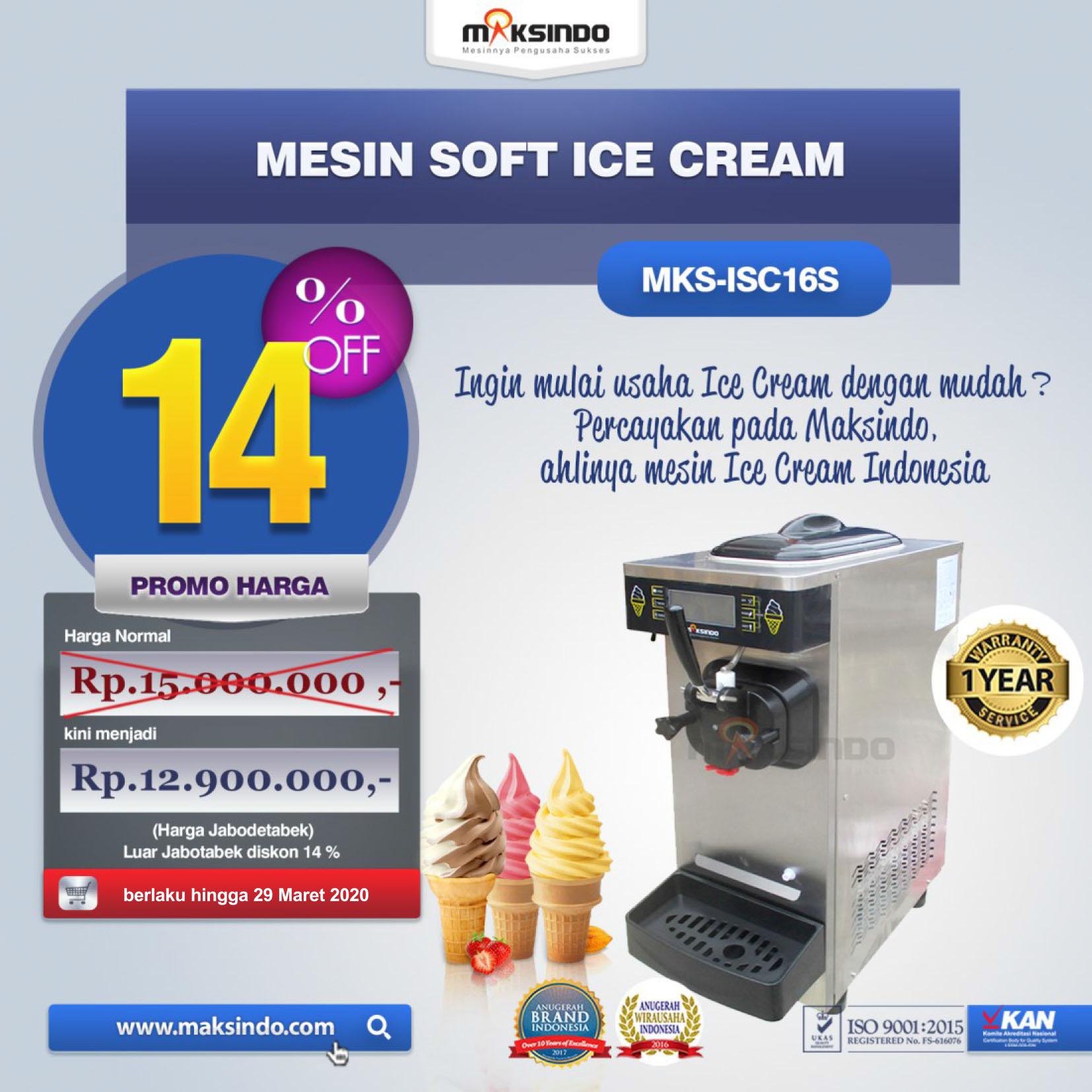 Jual Mesin Soft Ice Cream ISC-16S Di Pekanbaru