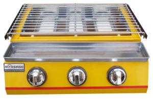 Jual Mesin Pemanggang Sate – BBQ 3 Tungku (Gas) MKS-369BBQ Di Pekanbaru