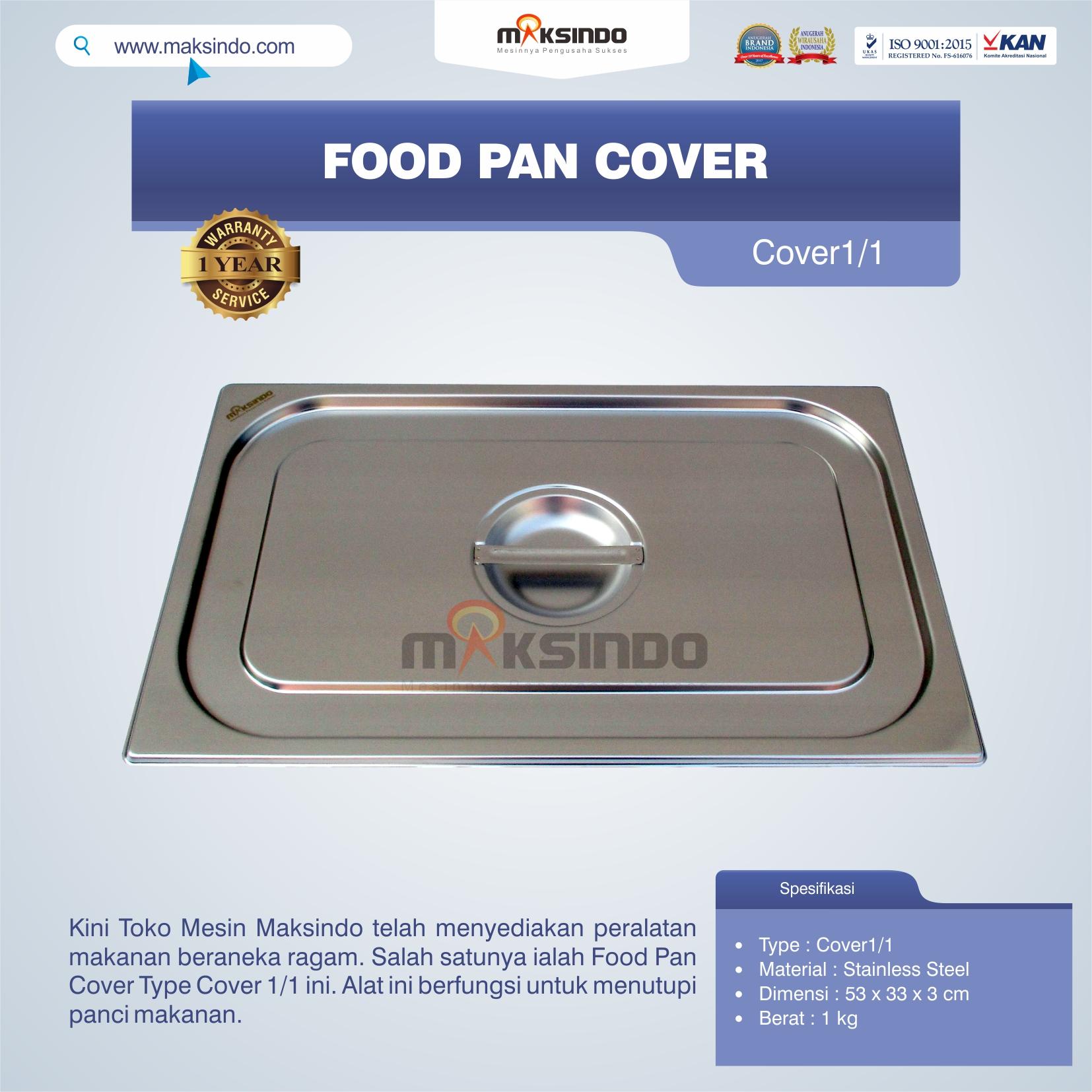 Jual Food Pan Cover Type Cover1/1 di Pekanbaru