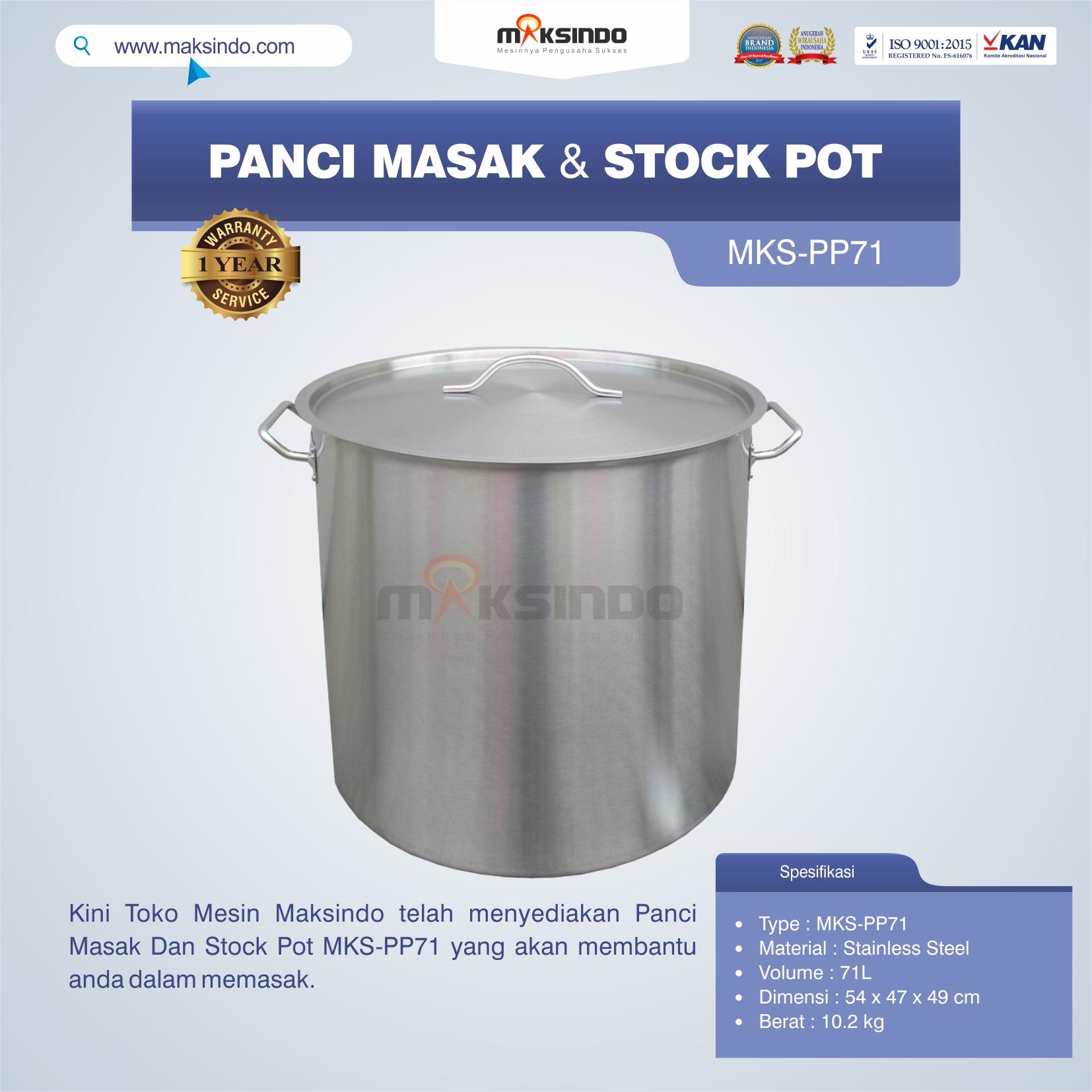 Jual Panci Masak Dan Stock Pot MKS-PP71 di Pekanbaru