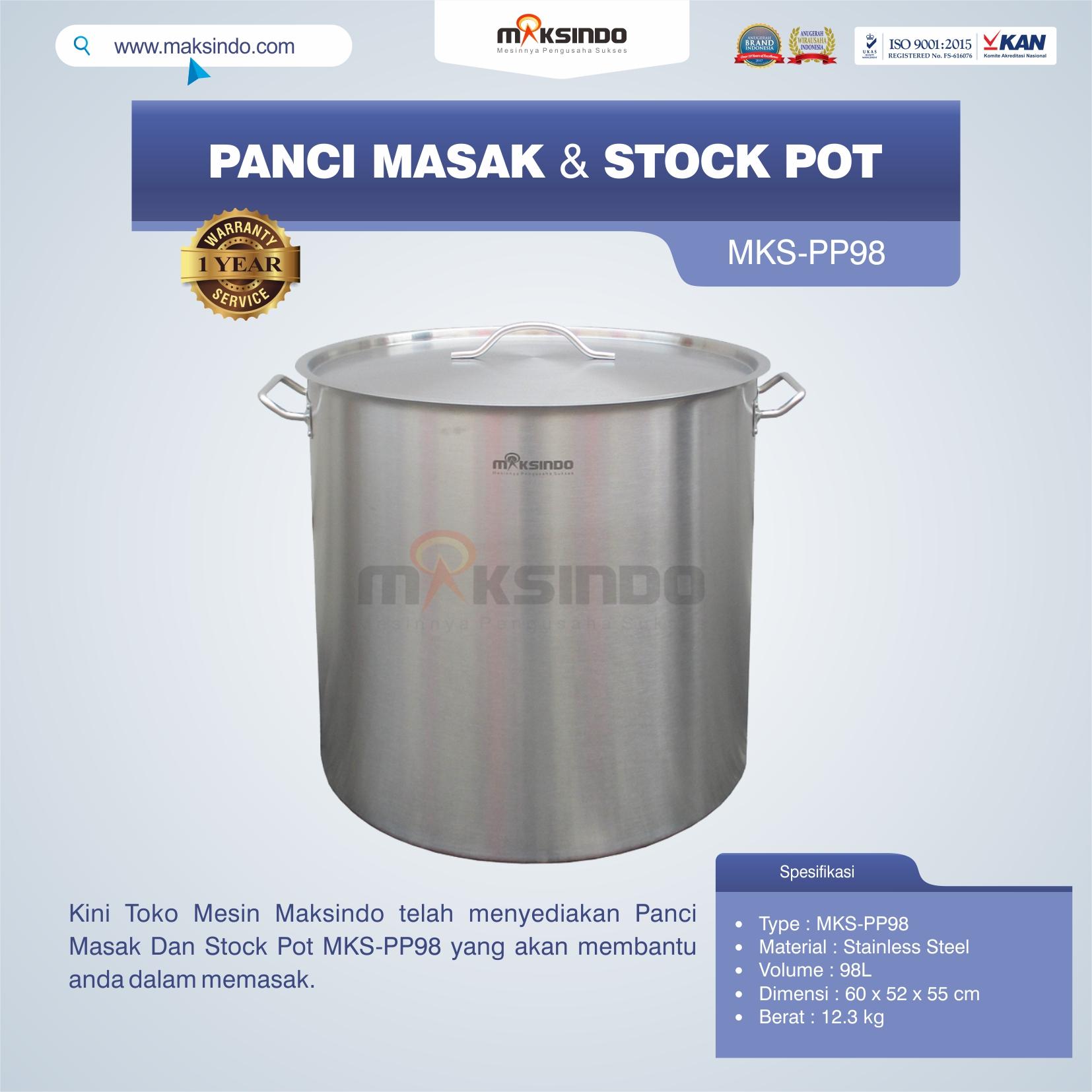 Jual Panci Masak Dan Stock Pot MKS-PP98 di Pekanbaru