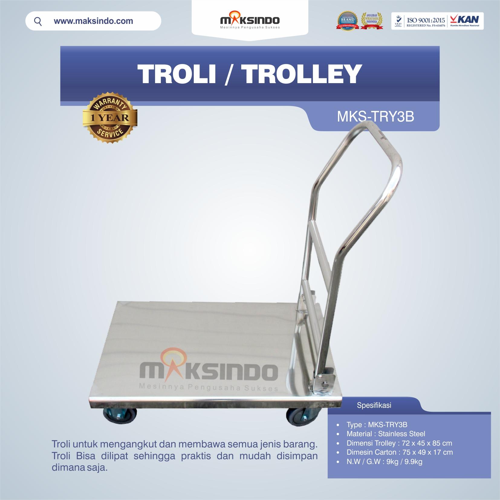 Jual Troli/Trolley MKS-TRY3B di Pekanbaru