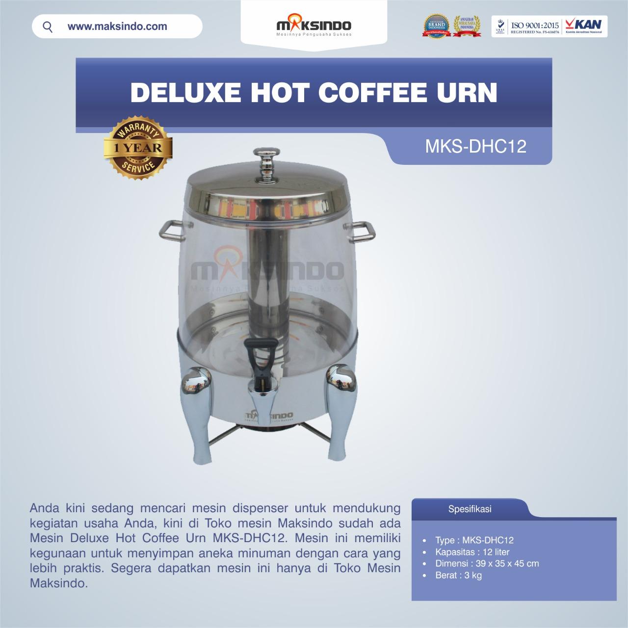 Jual Deluxe Hot Coffee Urn MKS-DHC12 di Pekanbaru