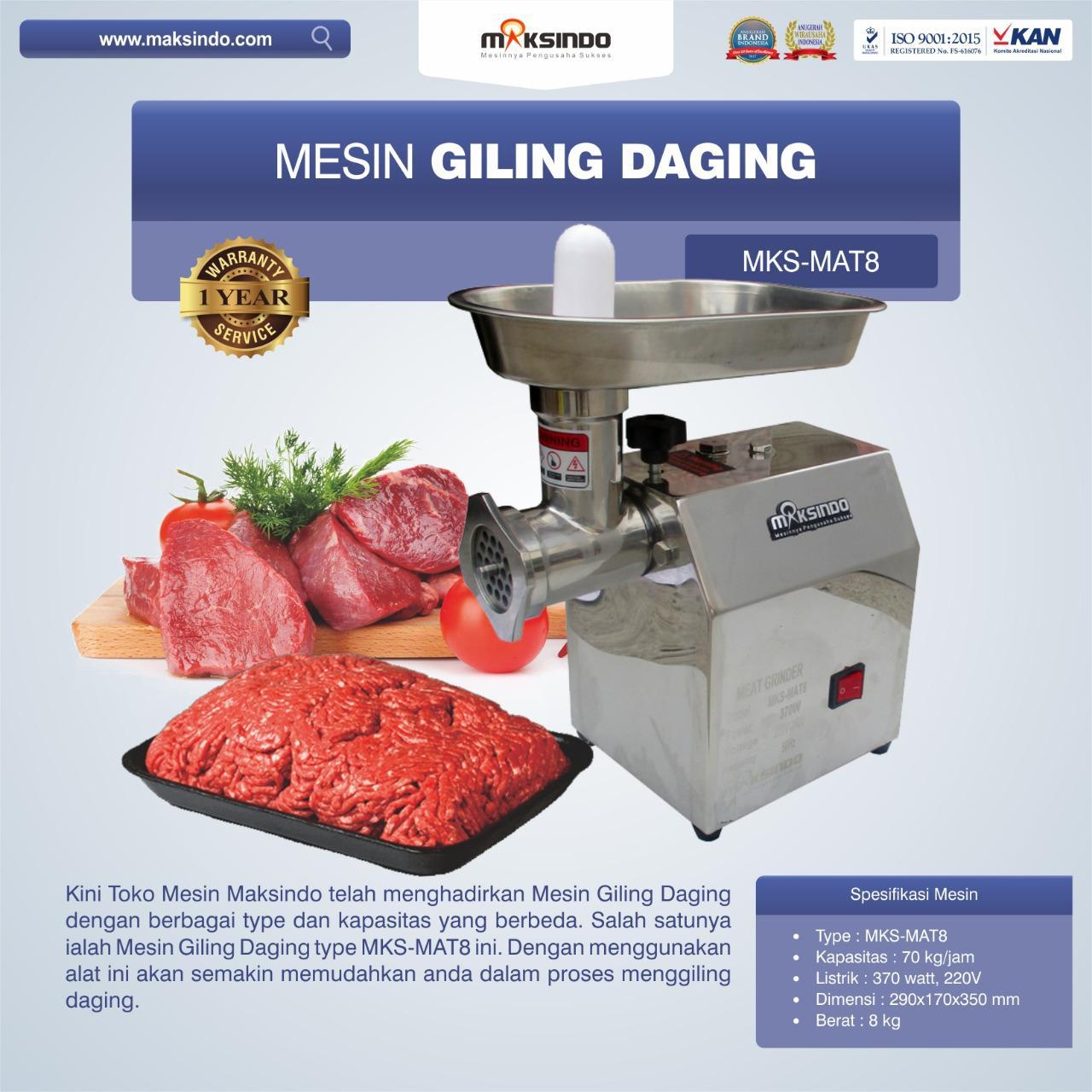 Jual Mesin Giling Daging MKS-MAT8 di Pekanbaru